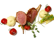 Mediterranean Potato Foam with Grilled Saddle of Lamb