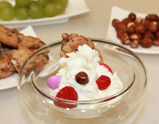 Vanillecreme mit diversen Toppings