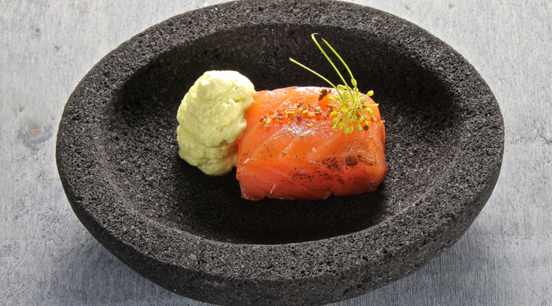 Graved Salmon, Dill and Mustard Espuma