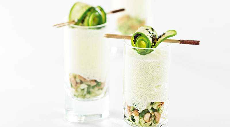 Cucumber and Yoghurt Espuma