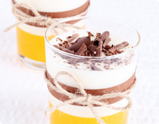 Stracciatella Mousse with Orange Jello