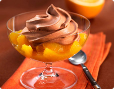 Mousse au Chocolat with Orange Ragout