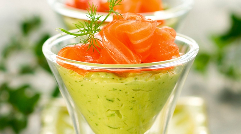 Wasabi Foam on Smoked Salmon Tartar