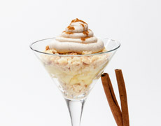 Apple Pie in a Glass with Apple and Cinnamon Mousse