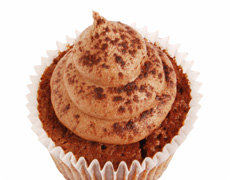 Walnut Cupcake with Coffee and Mascarpone Topping