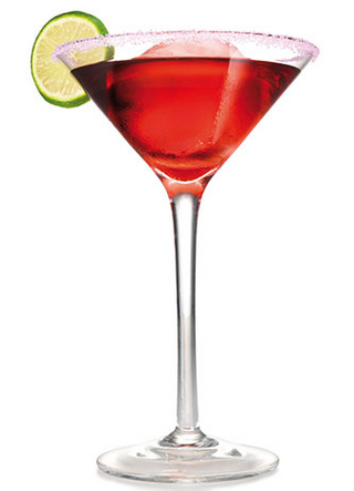 Sparkling Pomegranate Martini