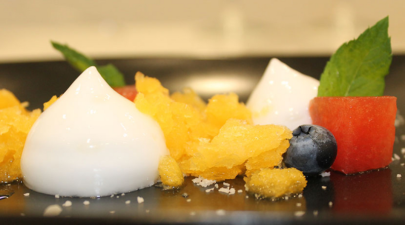 Summery Asian granité with Coconut Espuma