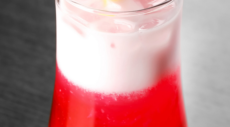 Zesty Prosecco Foam with Redcurrant Juice