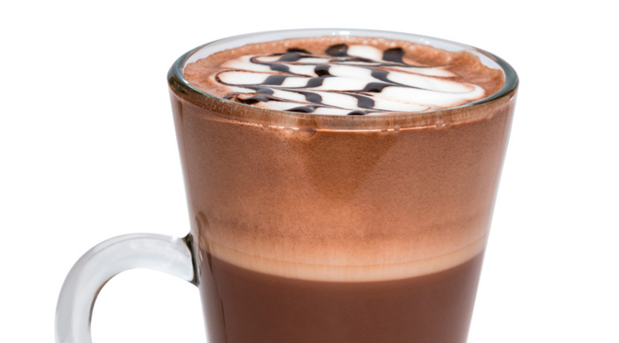 Café Latte with Chocolate Foam Topping
