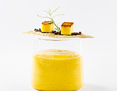 Mango and Coconut Foam Soup